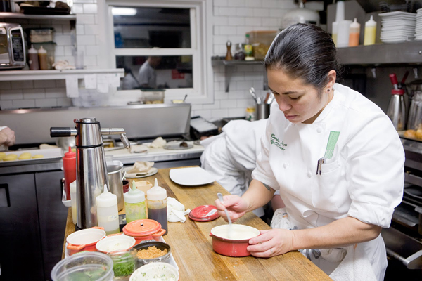 Owner Maria Hines in the Tilth Kitchen