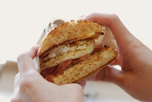 Smoked Ham, Egg + Cheese Breakfast Sandwich. Photo by Sean D.