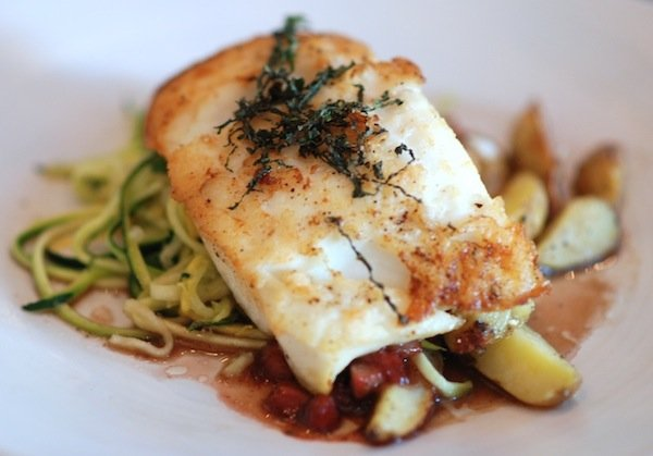 Seared Halibut. Photo by Sean D.