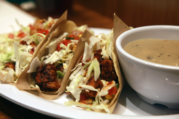 Vegggie Grill Chickin' Tacos ($9.95)
