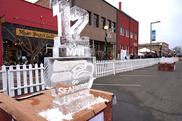 Winterfest 12th Man Ice Sculpture image by Sharlyn Petit