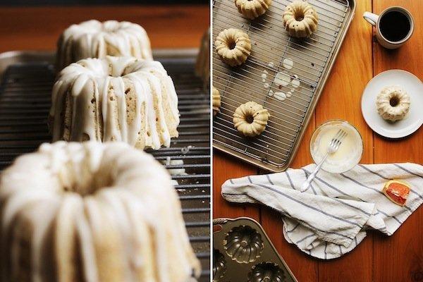 Orange & Cardamom Bundt Cakes image via The Broken Bread