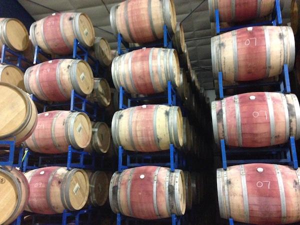 Barrels at Three Rivers Winery