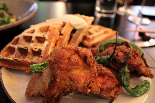Thai Fried Chicken and Kimchi Waffles. Get the full serving at their new restaurant in Capitol Hill.