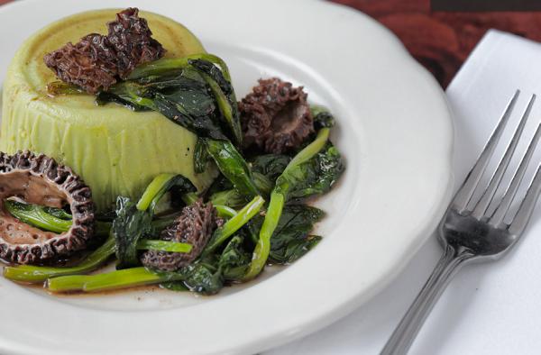Pea Flan. Photo courtesy of Restaurant Marche.