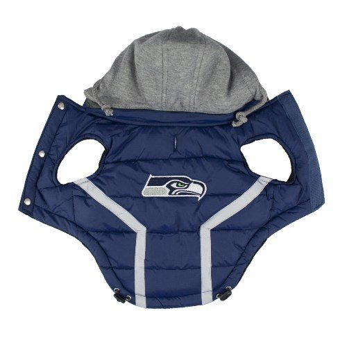 Seahawks Puffer Vest by Bow Wow and Woofs.