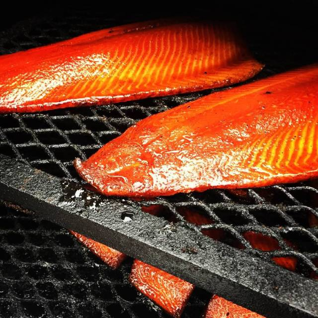 For vegetarian patrons, salmon is an excellent choice (Photo credit: Stefan and Julie Giles)