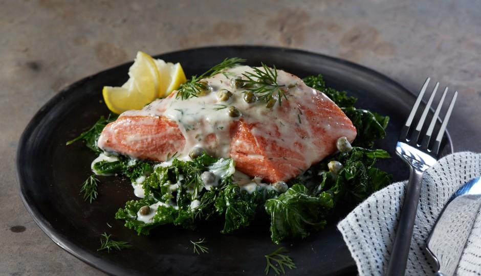 Alaska Salmon Picatta, Courtesy Alaska Seafood