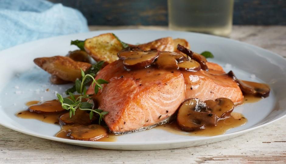 Alaska Salmon Marsala, , Courtesy Alaska Seafood