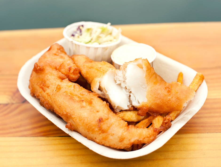 Fish & chips. Photo by Red Fish Blue Fish.