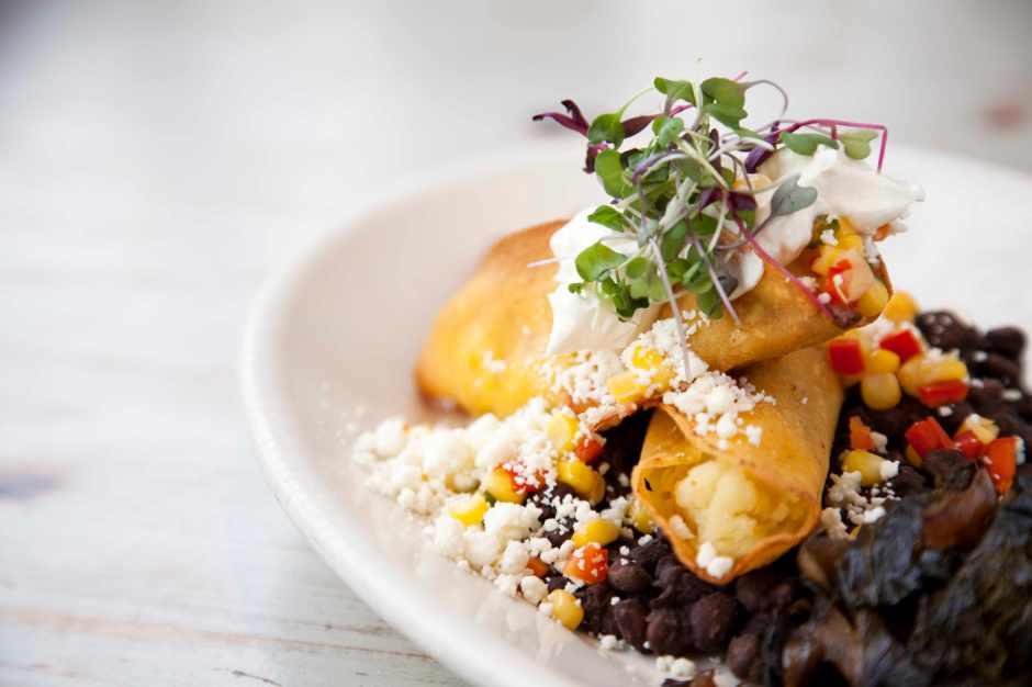 Oaxaco tacos. Photo courtesy Cafe Flora.