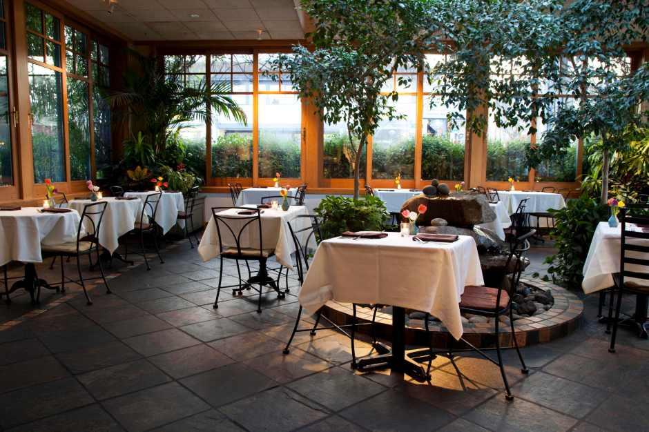 One half of Cafe Flora is this beautiful atrium.