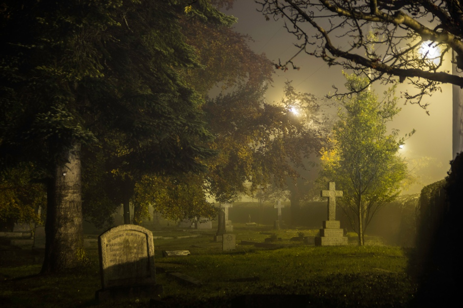 Ross Bay Cemetery spooks in this haunted season. (Photo courtesy Tourism Victoria.)