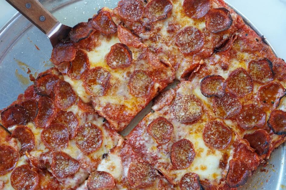 Dino's Pepperoni Square Pizza, photo courtesy Lindsay Byron