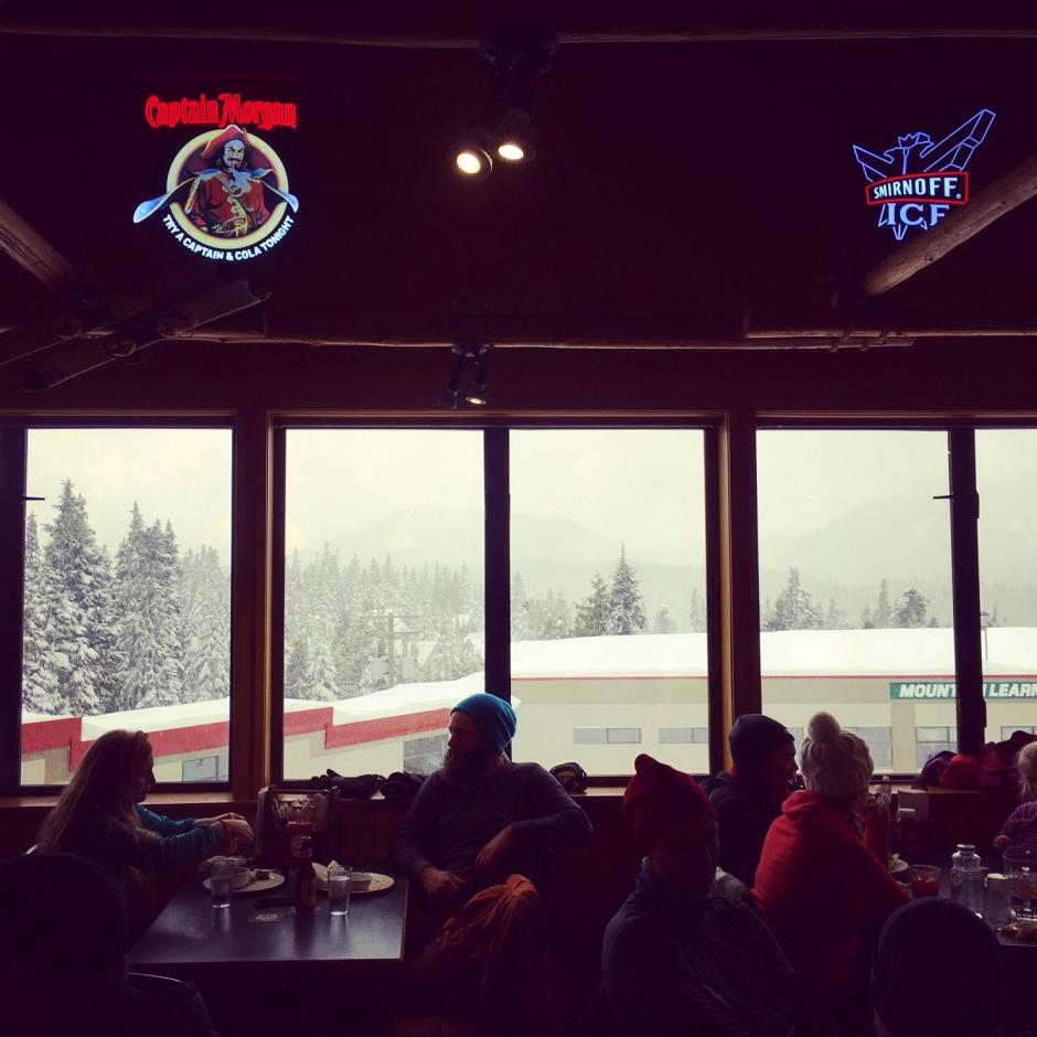 Slopeside dining on Mount Washington by Corinne Whiting