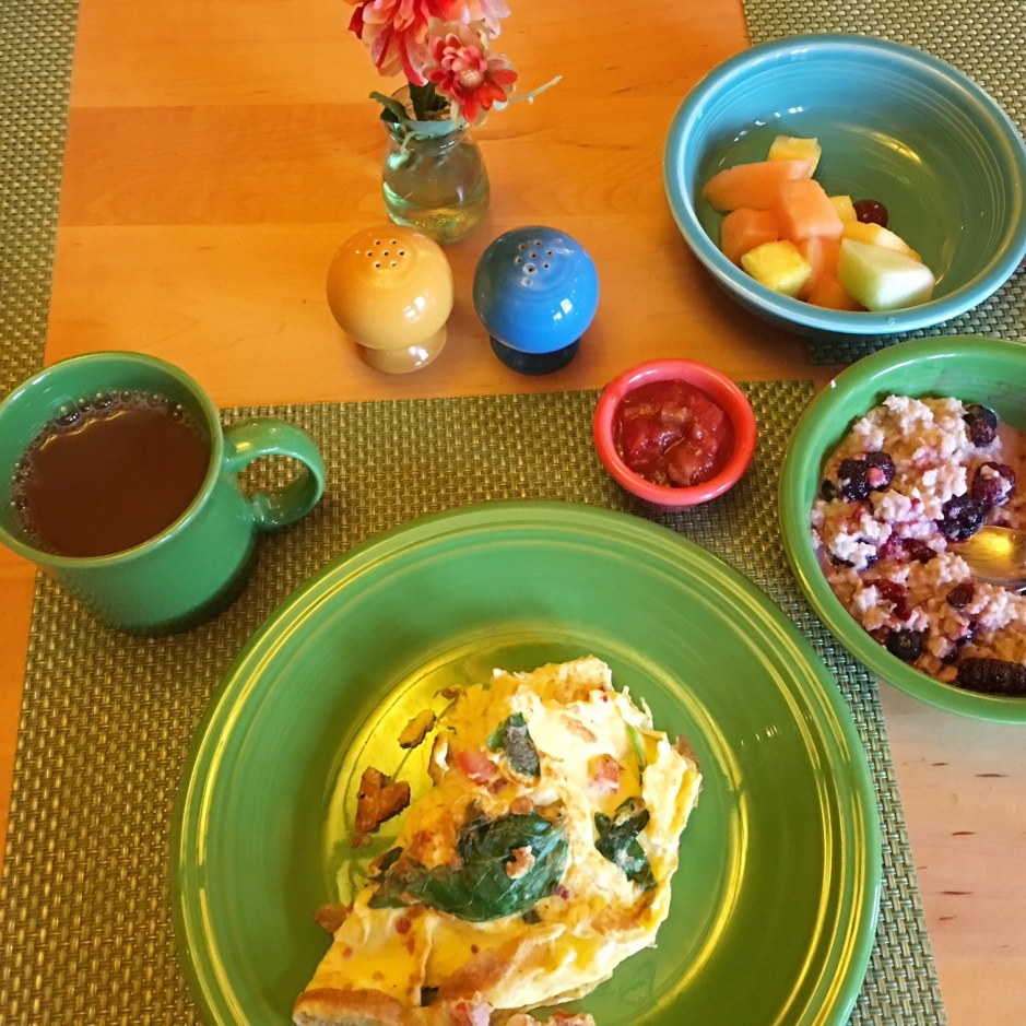 The Lodge breakfast spread, by Corinne Whiting