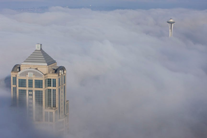 Sky View Observatory: Seattle from up in the clouds